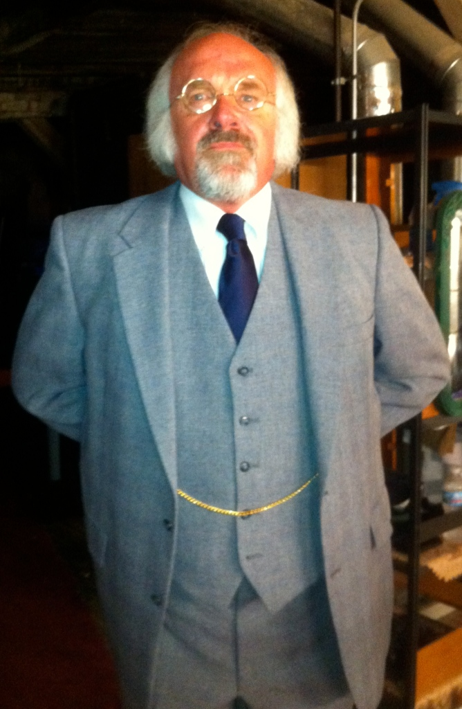 "Me as Dr. William Chumley, psychiatrist. From the play ""Harvey."""