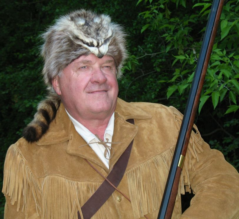 Yours truly as Fess Parker as Daniel Boone.