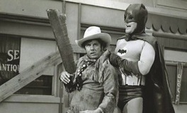 Shame (Cliff Robertson) thwarted by Batman (Adam West)